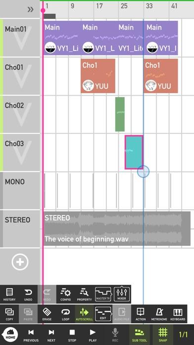 Mobile VOCALOID Editor screenshot1