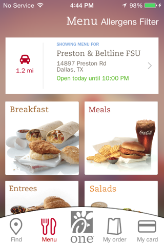 Chick-fil-A screenshot 1