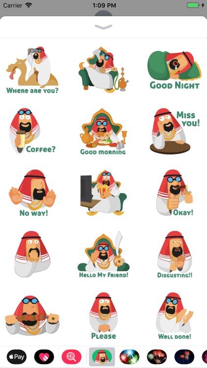 Arabian Vibe Funny Sticker App