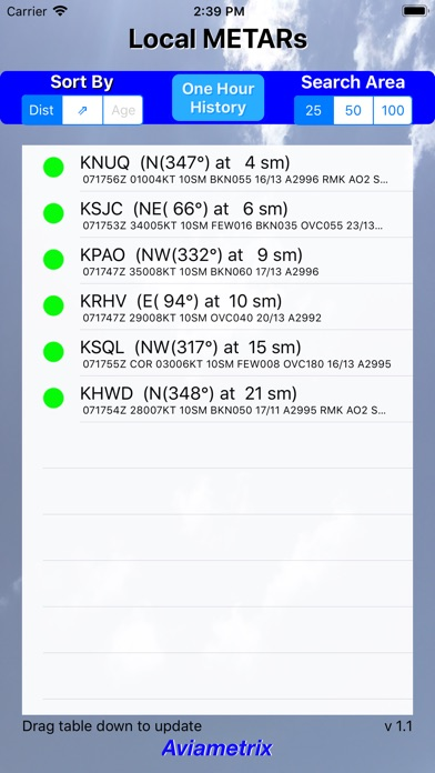 Screenshot for Local METARs in United States App Store
