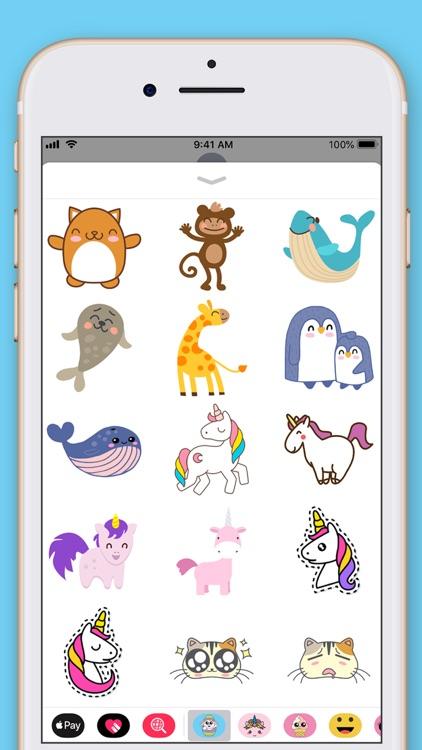 Cute Animals Kawaii Stickers screenshot-3