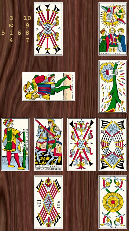 Old tarot restored by Flornoy
