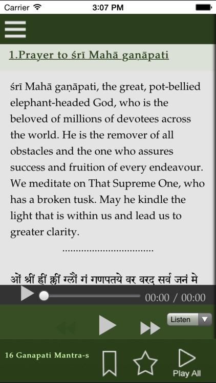 16 Ganapathi Mantra-s