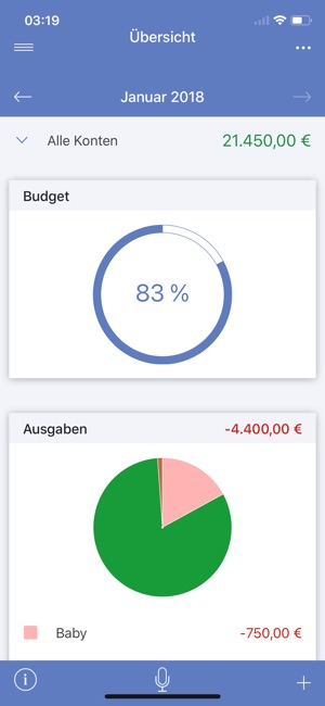 SayMoney - Haushaltsbuch Screenshot