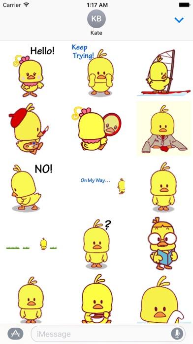 Animated Cute Chicken Sticker screenshot 1
