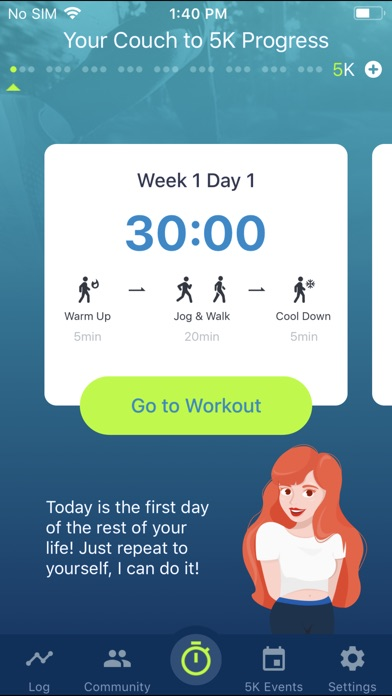 Couch to 5K® - Run training Screenshot