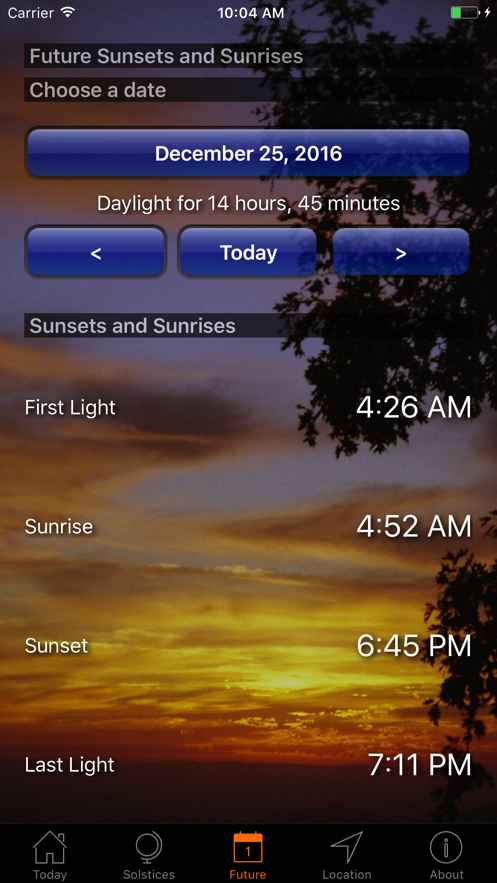 Sunset and Sunrise Times App 截图
