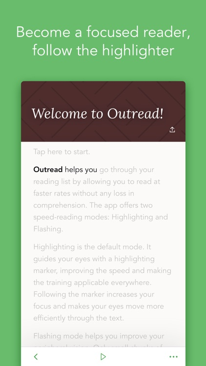 Outread – Speed Reading