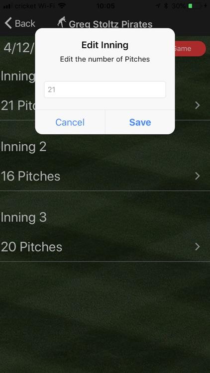 PitchCount-Keeper screenshot-3