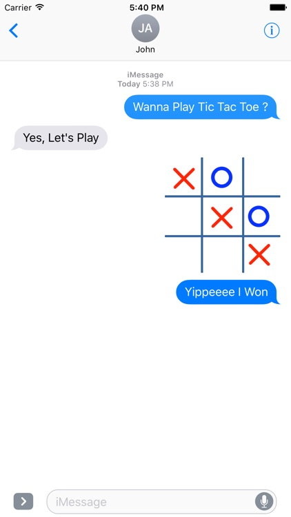 Tic Tac Toe (OX) GIF For Messages screenshot-4