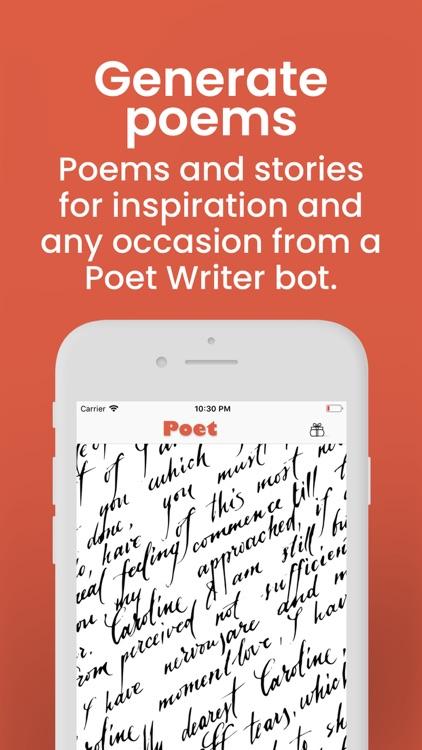Poet & Writer Creative bot screenshot-0