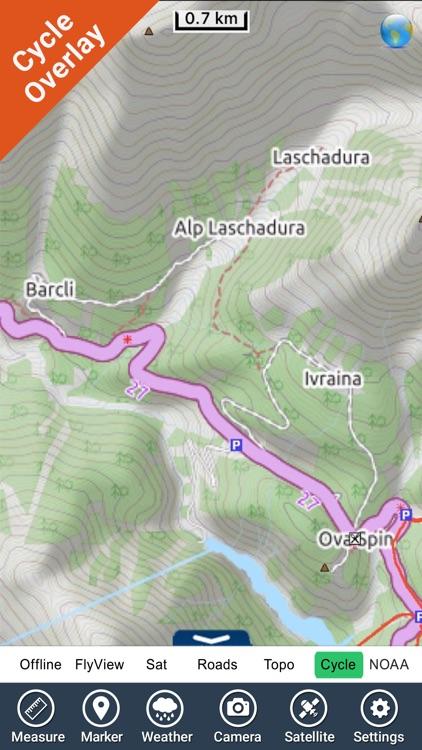 Schweizer National park - GPS Map Navigator