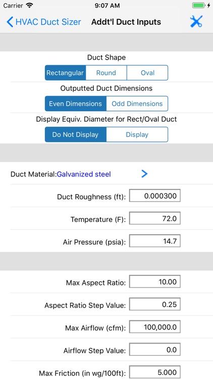 HVAC Duct Sizer screenshot-8