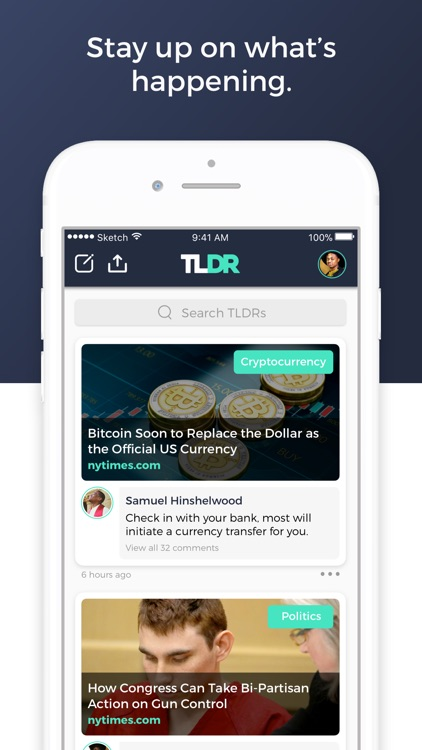 tldr - Social News Curator screenshot-0