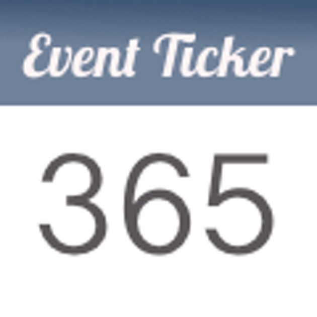 event ticker countdown to special days of life