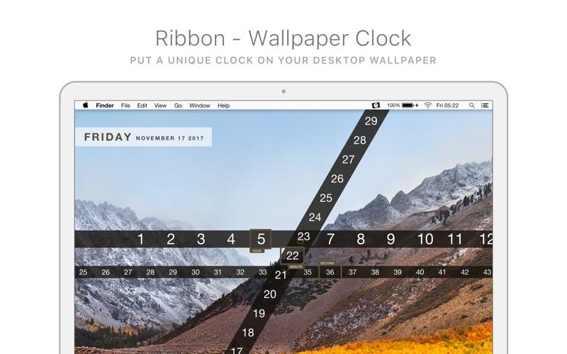 Screenshot #1 for Ribbon - Wallpaper Clock ...