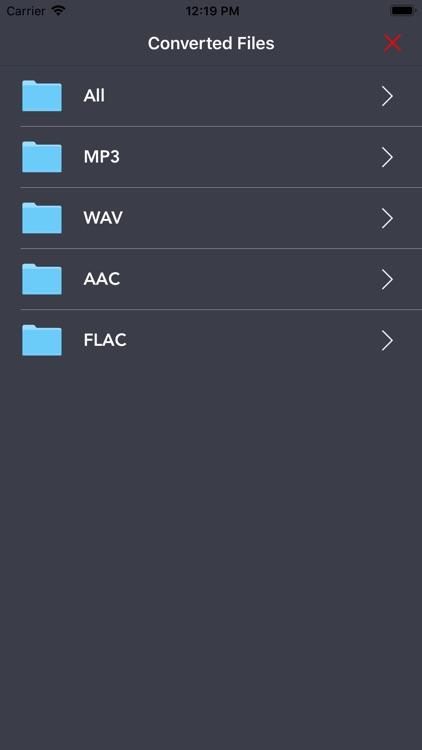 The Audio Converter App screenshot-3