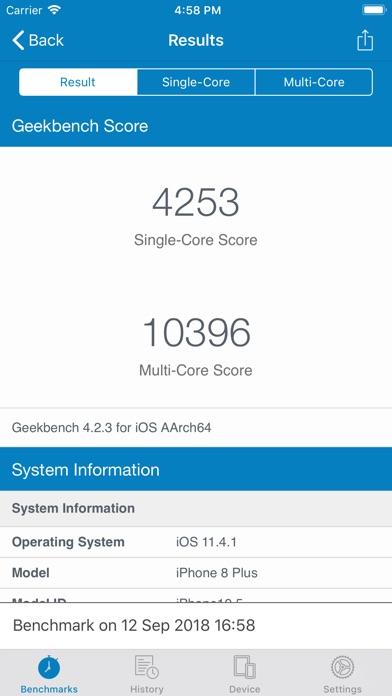 Geekbench 4 Pro screenshot 4