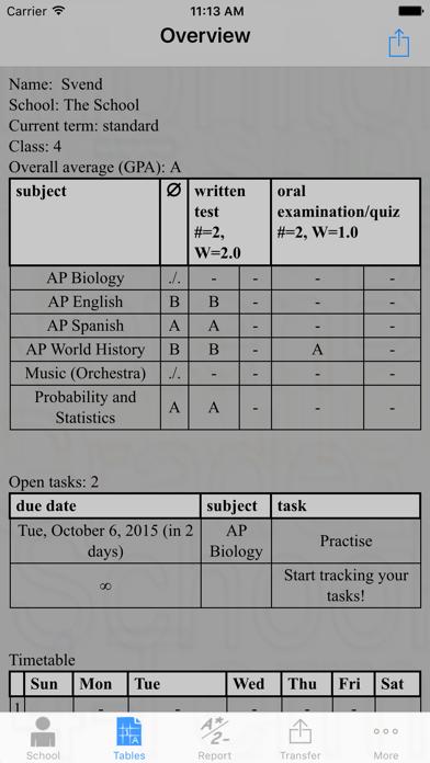 Grade Monitor screenshot three