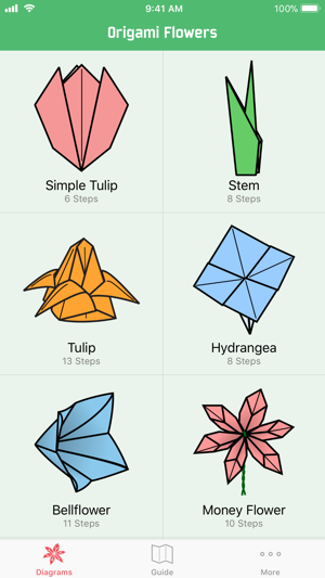 Origami flowers on the app store screenshots mightylinksfo