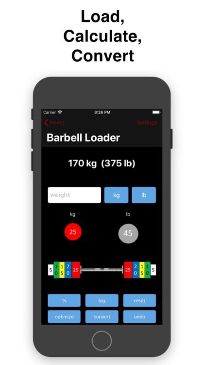 Barbell Loader and Calculator screenshot-0