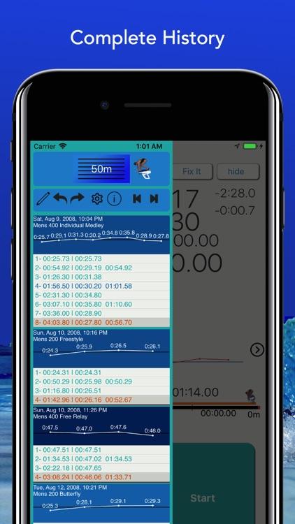 SwimToolz StopWatch screenshot-3