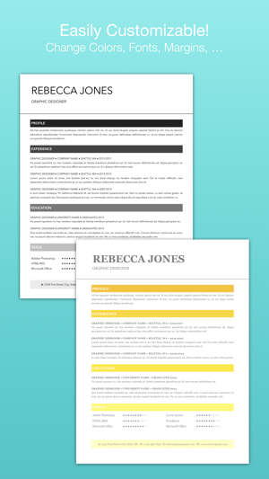 Resume templates for pages on the app store yelopaper Gallery