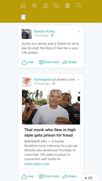 Screenshot of FlamingoMedia App