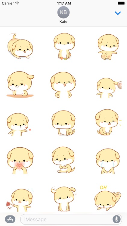 Charlie the Cute Dog Stickers