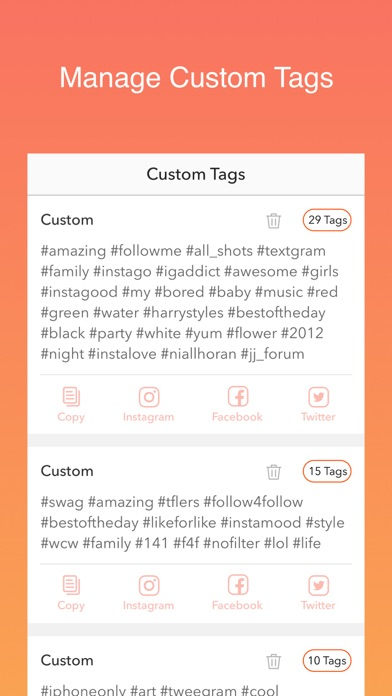 Hot Hashtags for Instagram, Facebook & Twitter