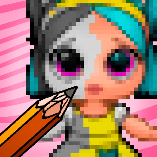 Coloring Dolls Surprise Pixel iOS App
