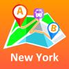 Andrii Zborovskyi - New York City - offline map アートワーク
