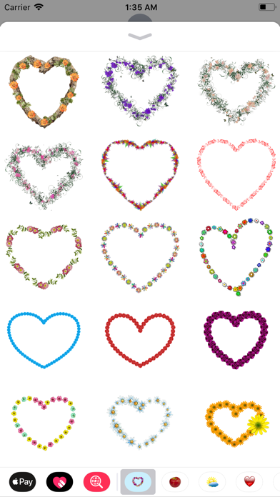Floral Hearts Sticker Pack screenshot two