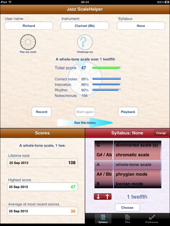 Jazz ScaleHelper for iPad screenshot-3