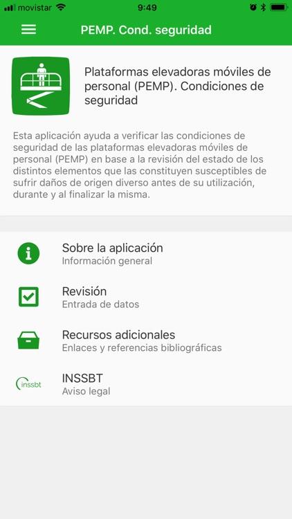 PEMP. Condiciones de seguridad by Instituto Nacional de Seguridad e ...