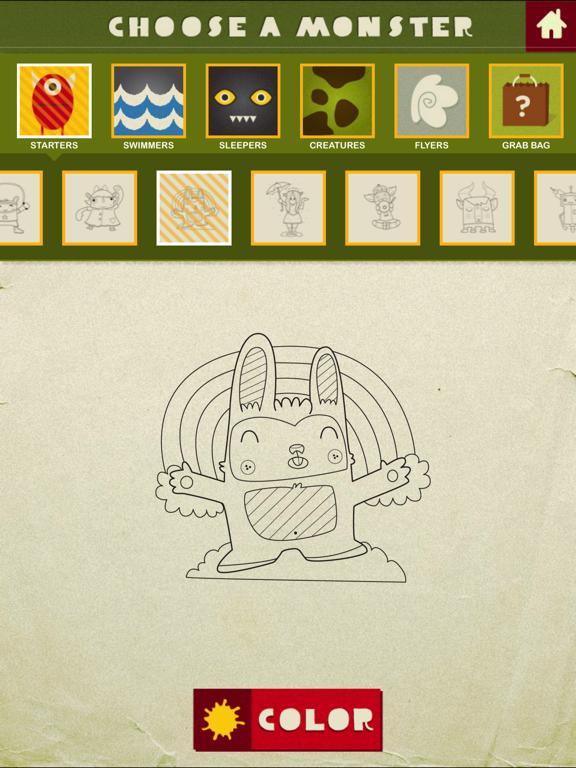 Monster Coloring Book screenshot