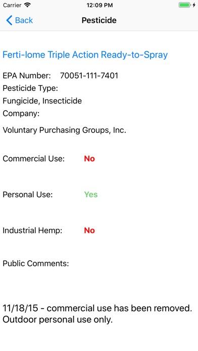 Colorado Cannabis Pesticides screenshot #2