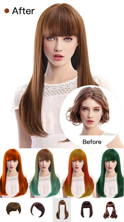 Hair Style Salon&Color Changer screenshot-1