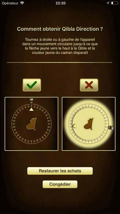 Screenshot for iSalam: Qibla Boussole in Lebanon App Store