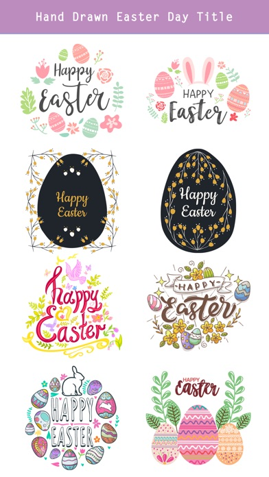 Hand Drawn Easter Day Stickers screenshot 4