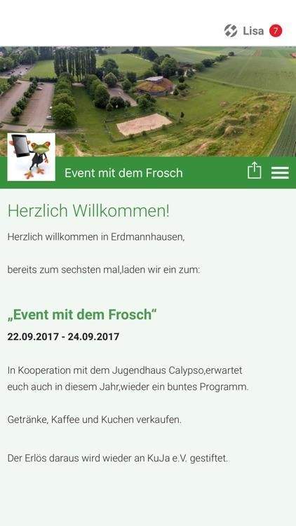 Das Event mit dem Frosch