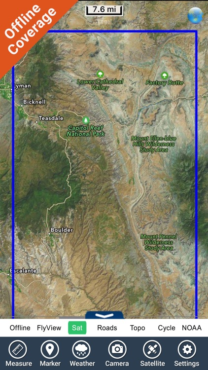 Capitol Reef National Park - GPS Map Navigator screenshot-4