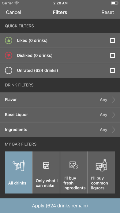 Tender Cocktails Screenshot