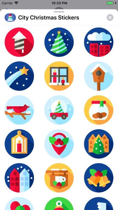 City Christmas Stickers screenshot 3