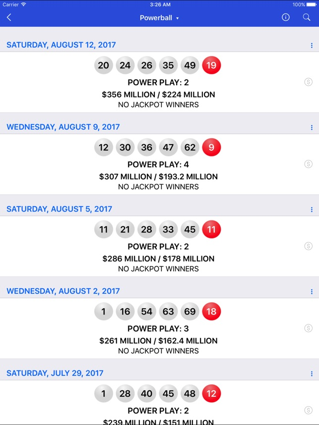 Lotto Results - Lottery in US on the App Store