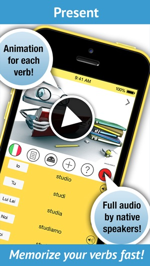 take a screenshot on iphone learn italian verbs learnbots on the app 18067