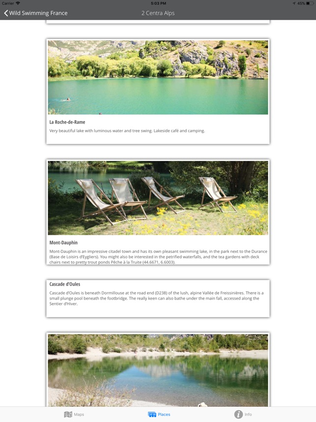 Wild Swimming France on the App
