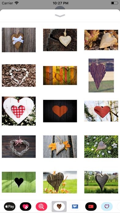 Rustic Hearts Sticker Pack screenshot two