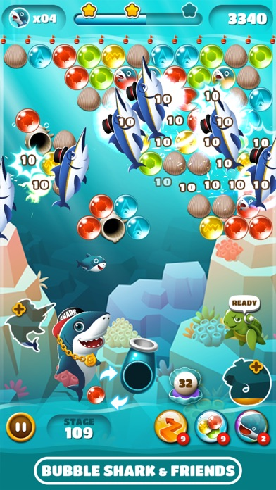Screenshot for Bubble Shark & Friends in Brazil App Store