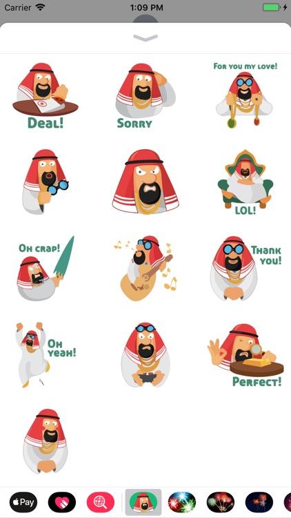 Arabian Vibe Funny Sticker App screenshot-3